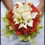 Bouquet executed in concentric circles