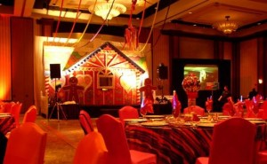 Candy themed bat mitzvah complete with gingerbread house.