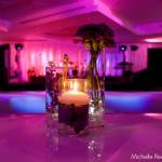 Sleek wedding reception