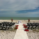 Casa Ybel wedding ceremony with custom hearts